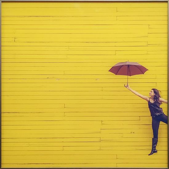 Impressão em vidro - Mulher guarda-chuva