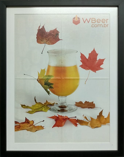 Gravura W Beer - Quadro Pronto OUTLET