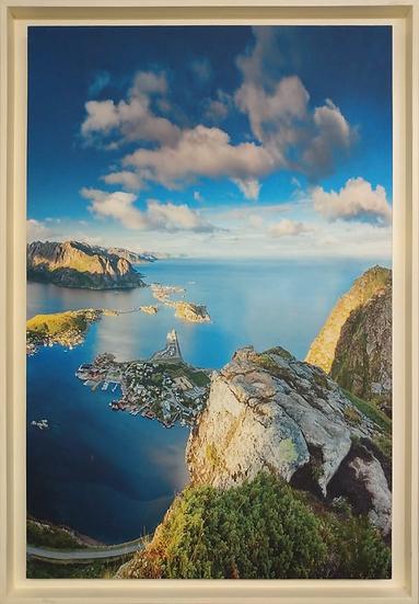 Canvas Paisagem Montanha e Mar - Quadro Pronto OUTLET