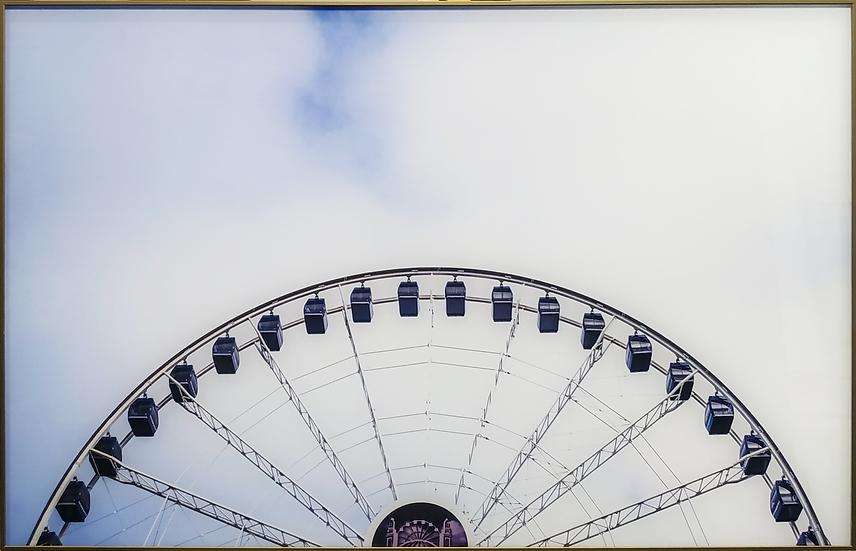 Impressão em vidro - Roda gigante