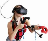 Evolution VR Gun Controller Rifle Adapter for HTC Vive Carbon Fiber Edition