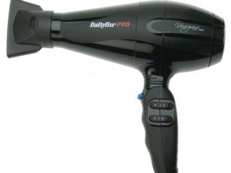 BaBylissPRO  VENEZIANO Фен для сушки волос 2200 Вт, черный, ионизация, 2 насадки