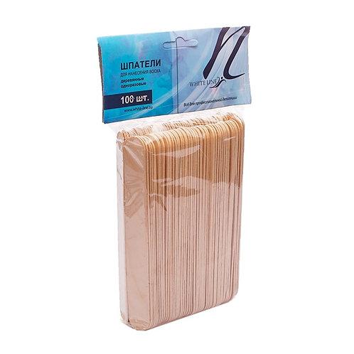 Шпатель деревянный н/с White line (№100шт)