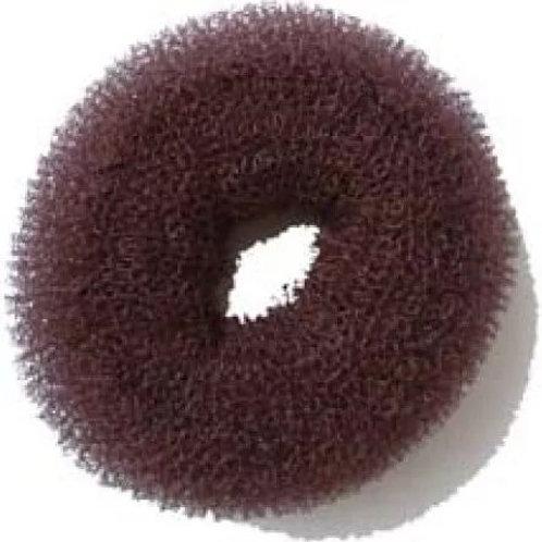 Валик для прически круглый, губка, коричневый d 8 см