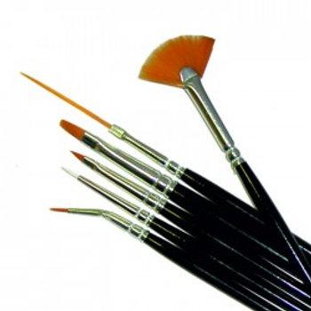 Brush for nail кисть для дизайна 6 шт