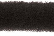 DEWAL Валик для прически, губка с кнопкой, черный 25 см