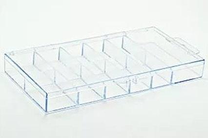 Контейнер для типс на 100 шт прозрачный пластик 700016