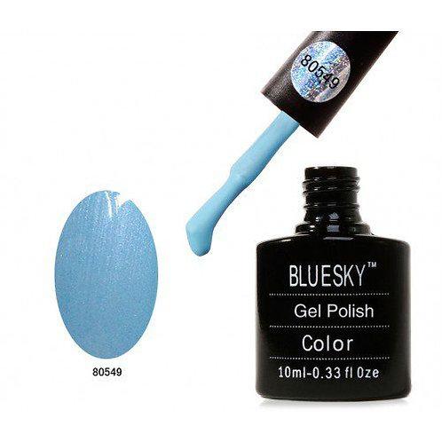 BLUESKY Soak off gel polish color голубой 80549