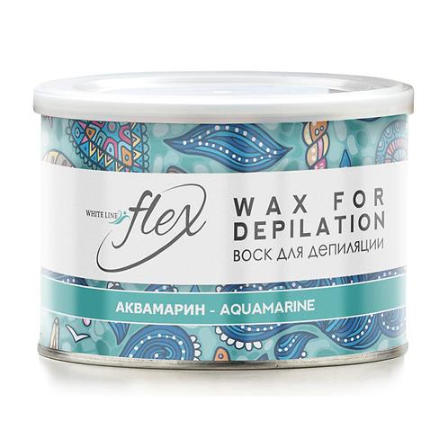 WHITE LINE FLEX WAX FOR DEPILATION воск для депиляции, АКВАМАРИН, 400 мл