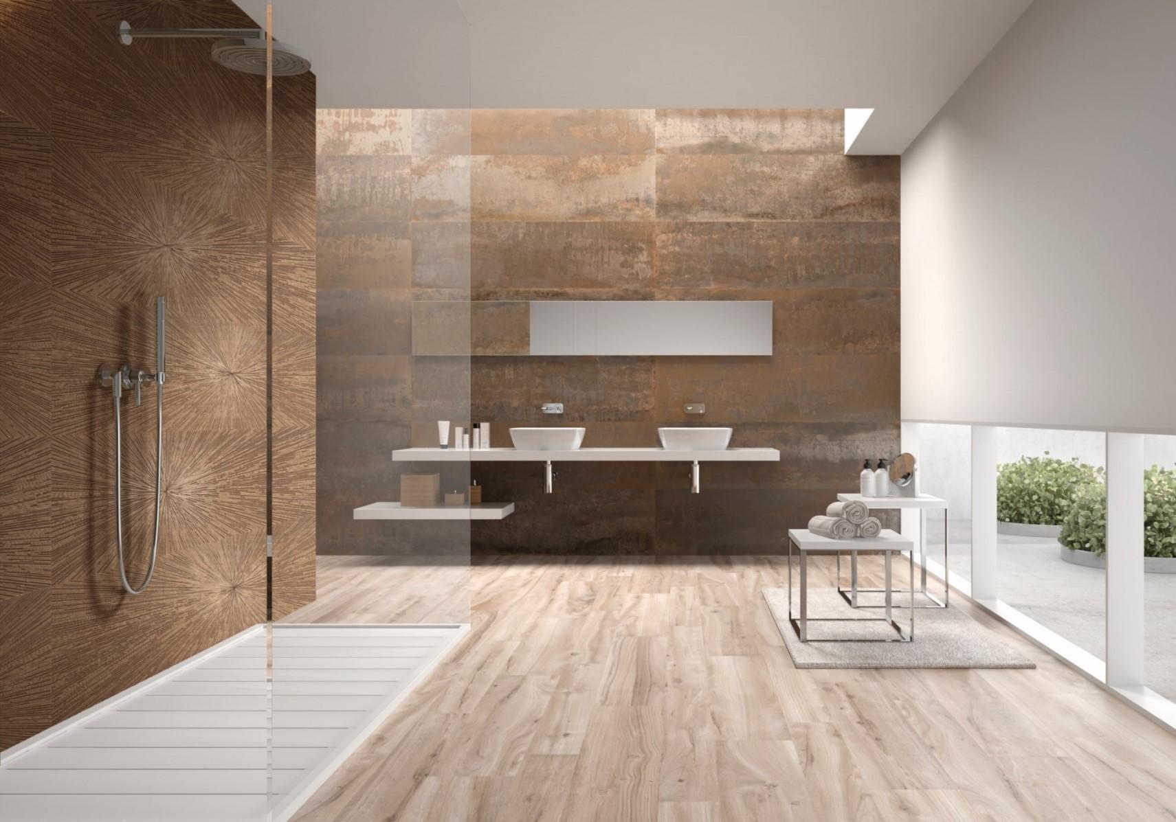 Copper bathroom tiles