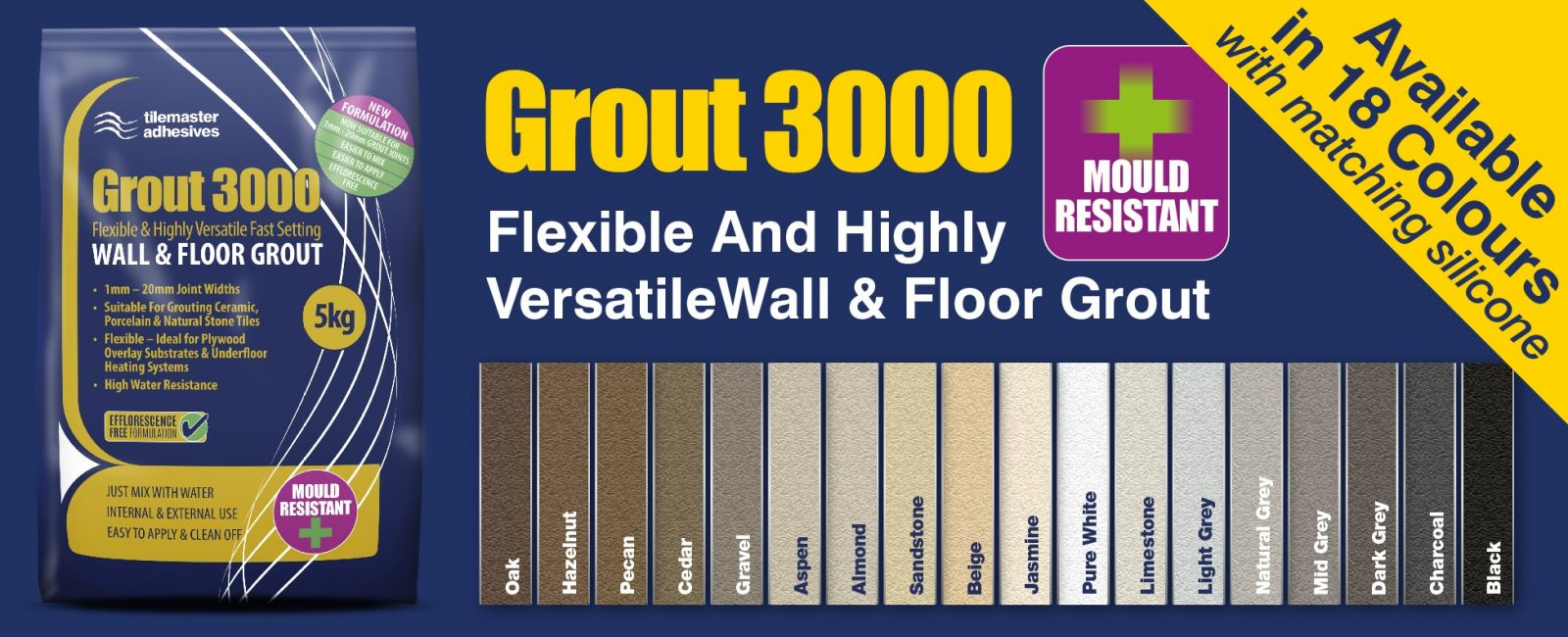 grout 3000 colours