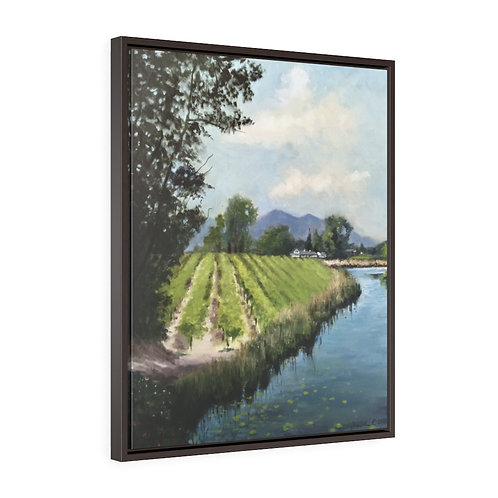 """""""Valley Life""""  Vertical Framed Premium Gallery Wrap Canvas"""