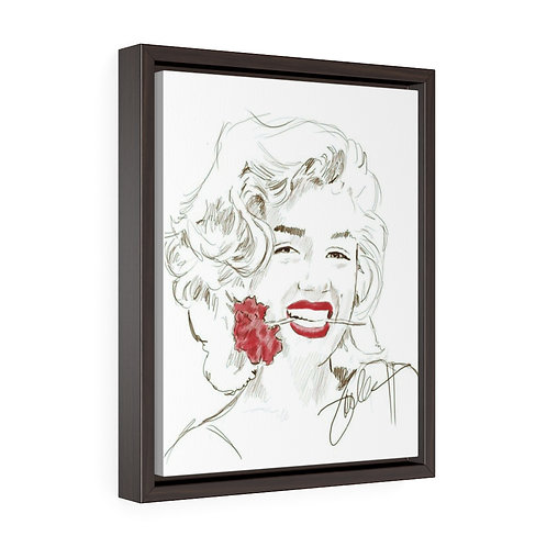 """Red Rose"" Framed Premium Gallery Wrap Canvas"