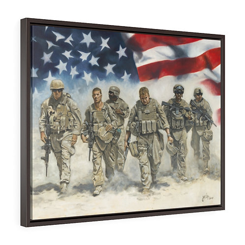"""""""FOR FREEDOM"""" Framed Canvas Prints"""