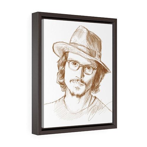 """Johnny Depp""   Framed Premium Gallery Wrap Canvas"