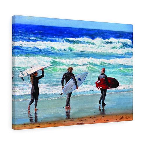 """LaJolla Shore Surf""  18x24 Canvas Gallery Wraps"