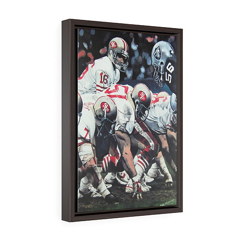 """""""FOURTH AND ONE"""" Framed Premium Gallery Wrap Canvas"""