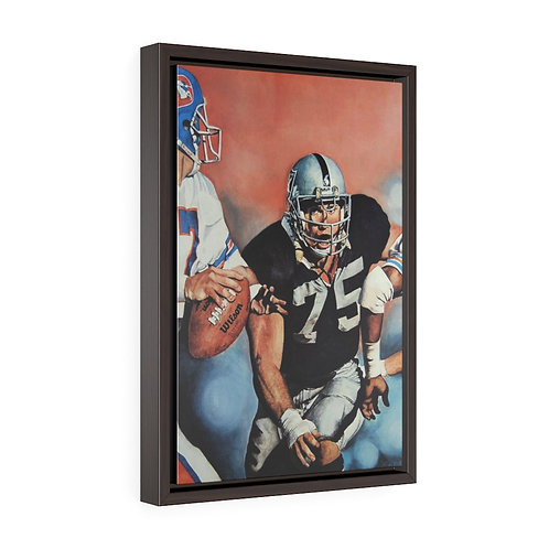 """""""SACK ATTACK""""   Framed Premium Gallery Wrap Canvas"""