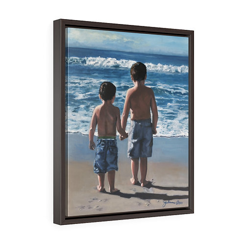 """""""Lets Go Together""""  16X20 Framed Premium Gallery Wrap Canvas"""