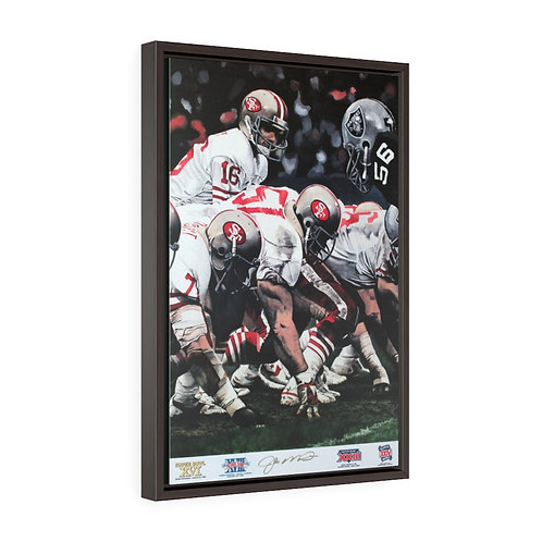 """""""Fourth and One"""" 16x24 framed print"""