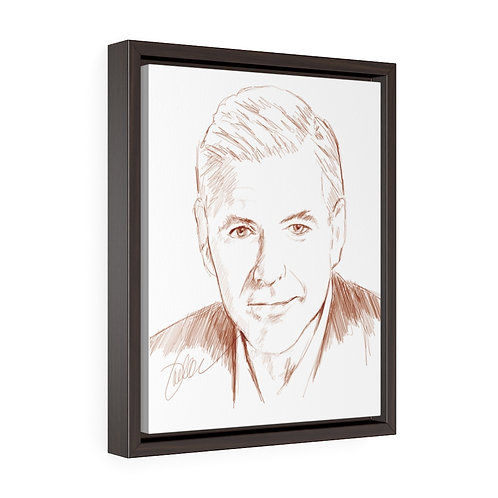 """Clooney""  Framed Premium Gallery Wrap Canvas"