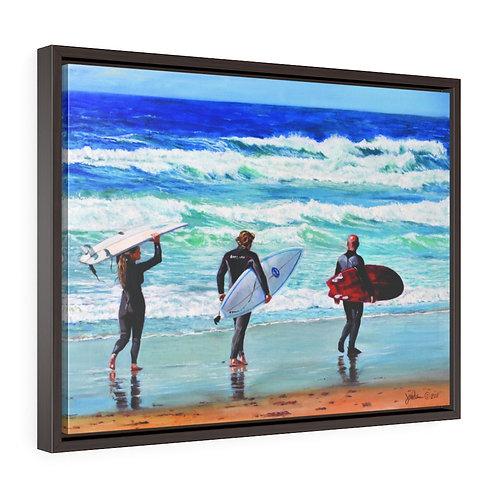 """LaJolla Shore Surf""  18x24 Framed Premium Gallery Wrap Canvas"