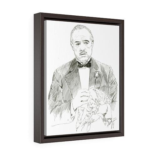 """Brando""  Framed Premium Gallery Wrap Canvas"