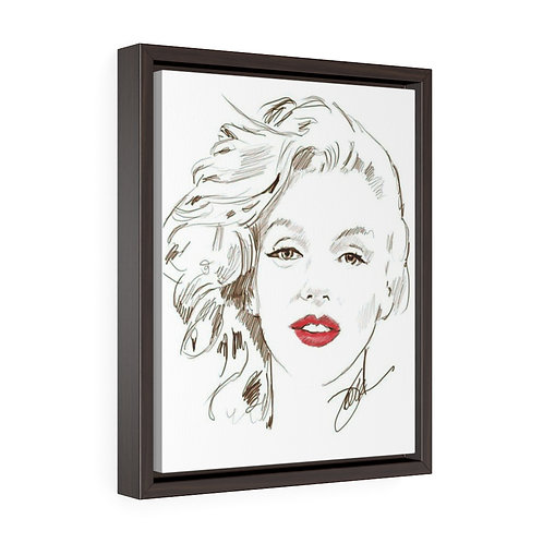 """Red Lips""  Framed Premium Gallery Wrap Canvas"