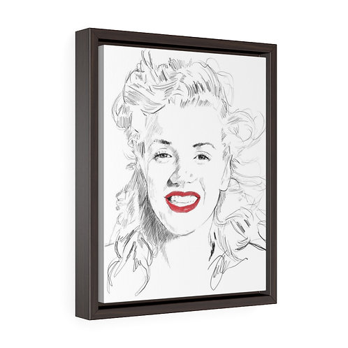 """""""Young Marilyn""""  Framed Premium Gallery Wrap Canvas"""