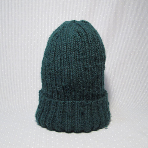 Ribbed Wool Hat (Green)