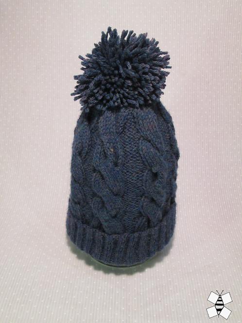 Winter Twist Cable Knit Hat (Blue)