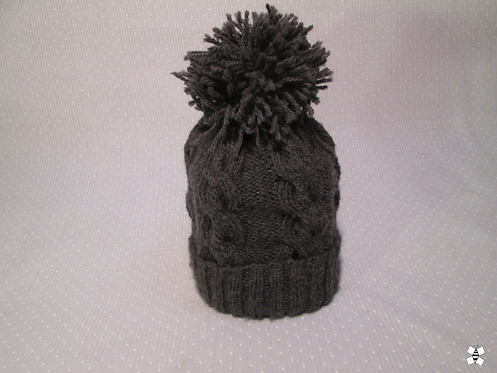 Winter Twist Cable Knit Hat (Grey)