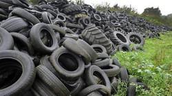 Décharge sauvage de pneus