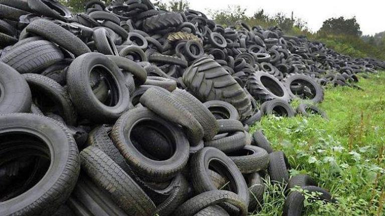 pneus usagés
