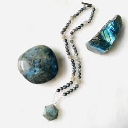 Sam Selby Labradorite and Clear Quartz Necklace
