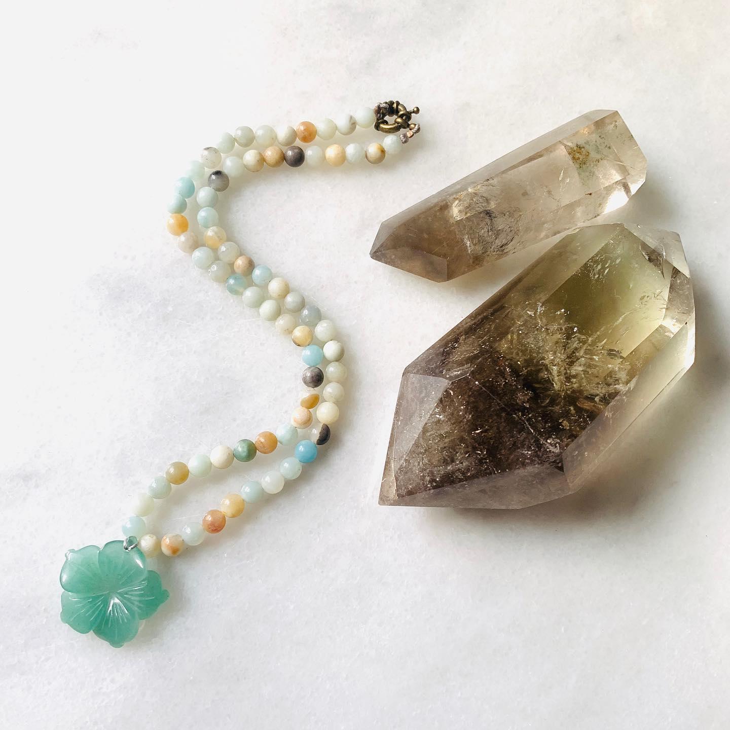 Sam Selby Green Aventrine and Amazonite Necklace