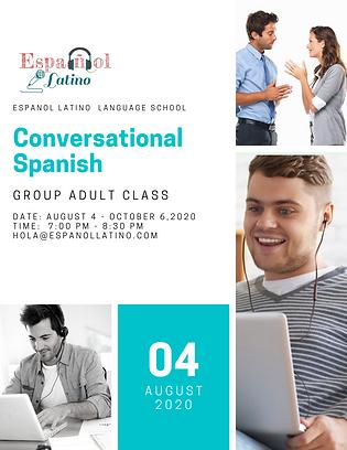 Espanol Latino Group Class Tuesday Augus