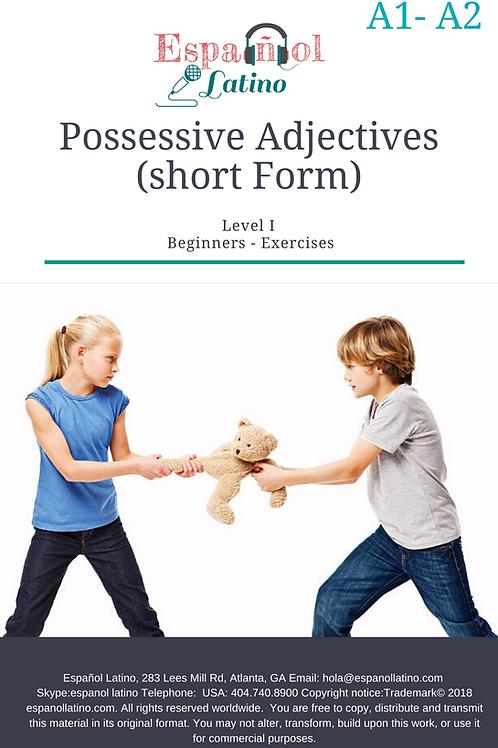 Possessive Adjectives (Short Form) in Spanish