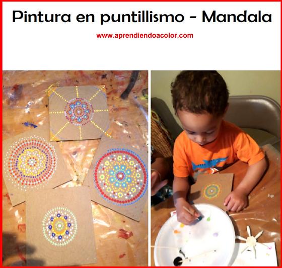 Pintura en puntillismo - Mandala por Yinette Wisdom