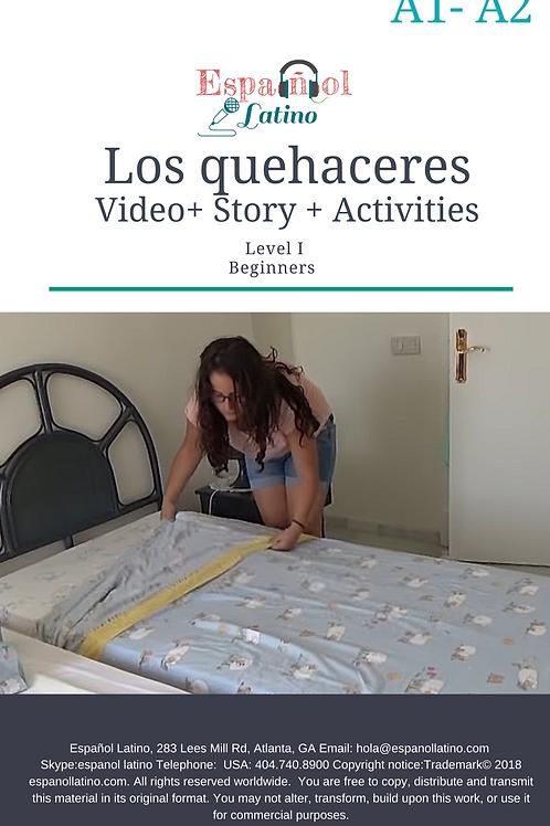 Los quehaceres. Video + Story + Activities