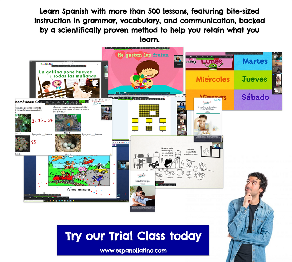 Free Trial Class Español Latino