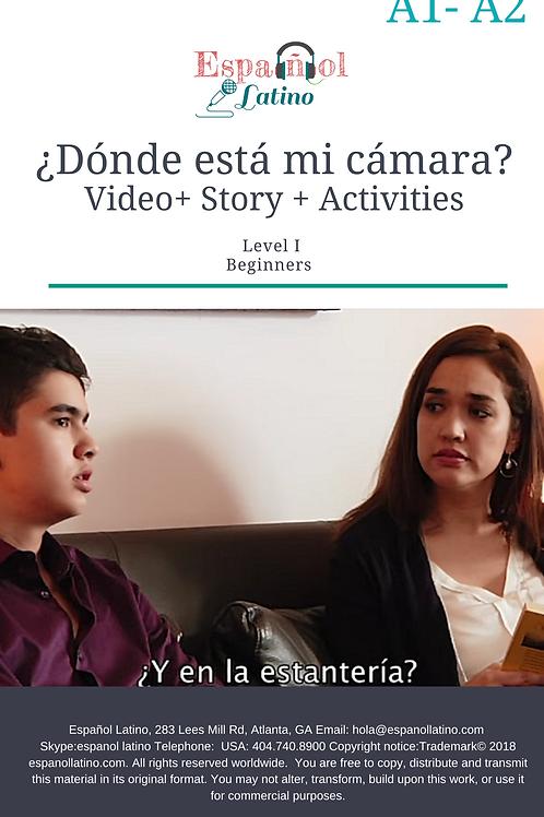 ¿Dónde está mi cámara?. Video + Story + Activities