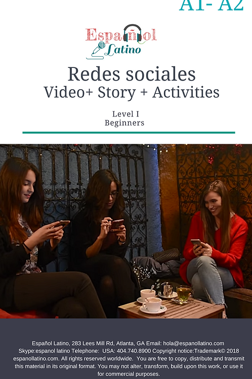 Redes sociales.  Video + Story + Activities