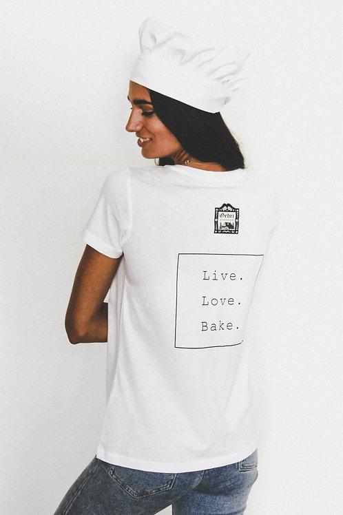 "Staff Shirt ""Live. Love. Bake.""  (Maidle)"