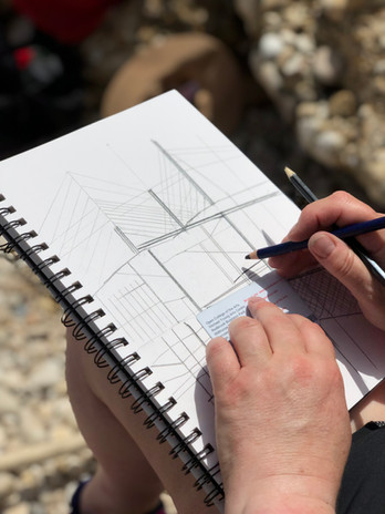Trabocchi inspired drawings at the coast