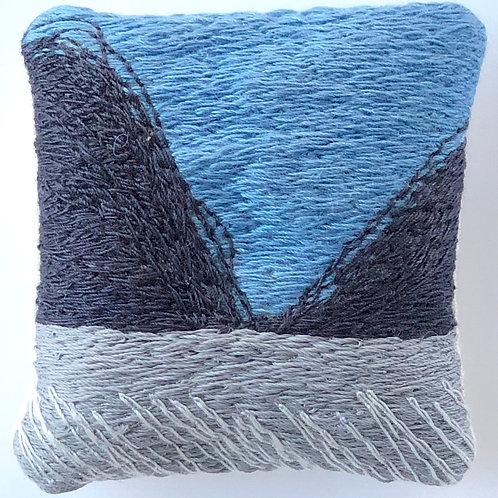 """Sea gorge"" Stitched Brooch"