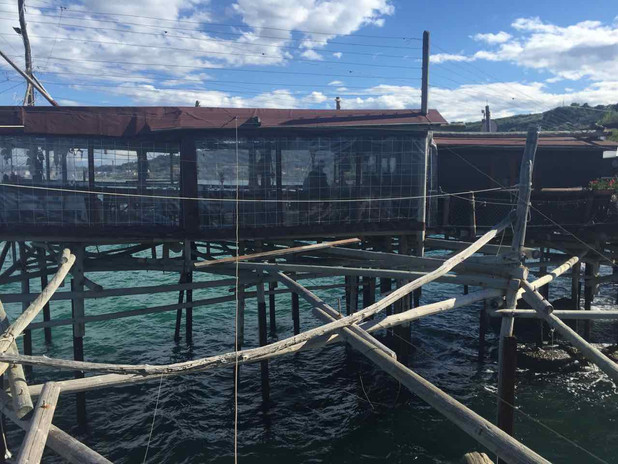 The Trabocchi are magical structures and many of them are also fabulous fish resturants