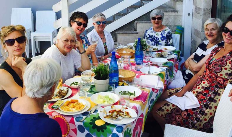 A colourful lunch at San Vito Marina