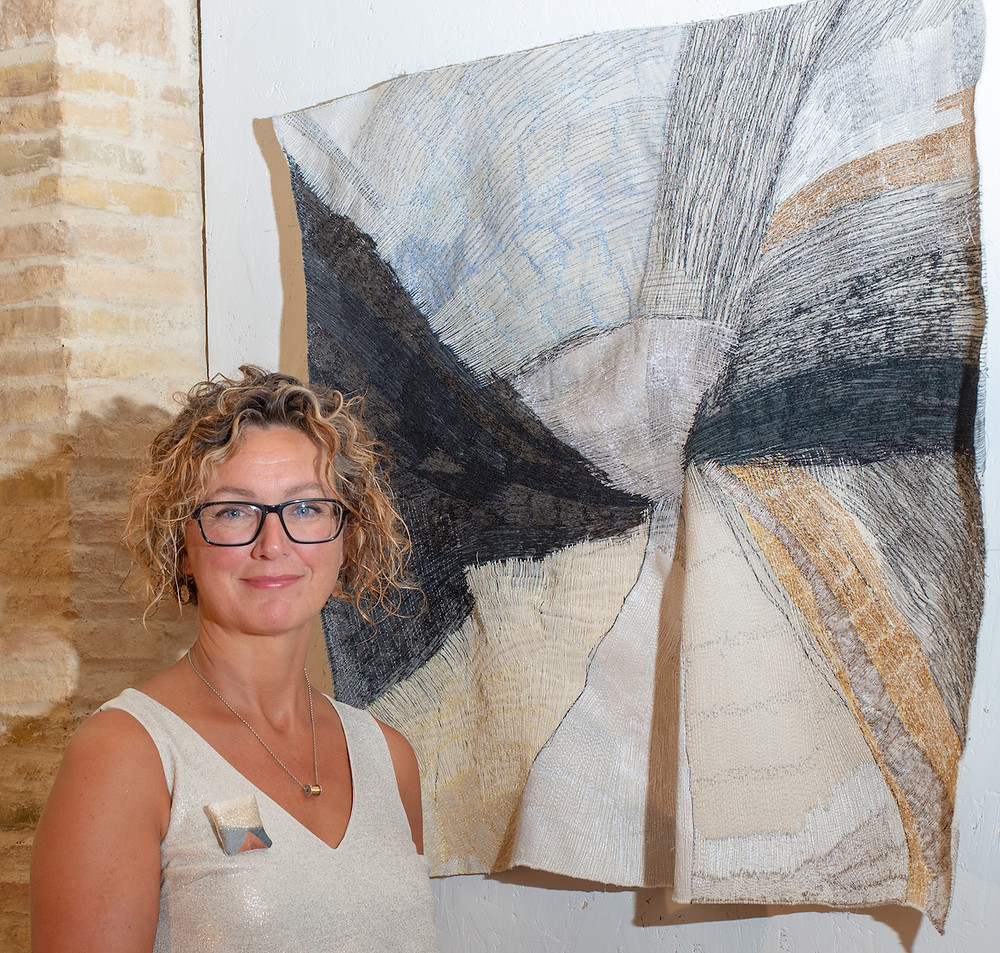 Dionne Swift with her work