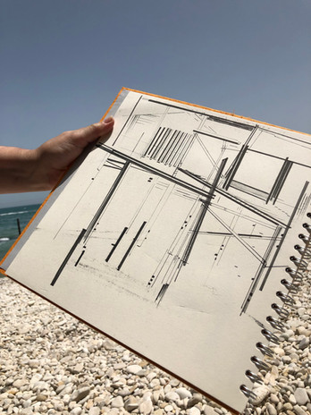 Drawing at the beach - lush!